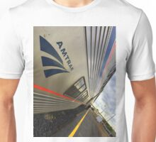 Amtrak Train Sits In Station Unisex T-Shirt