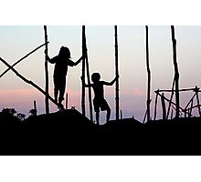 Children playing in Cambodia Photographic Print