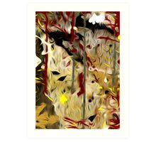 Abstract Colors Oil Painting #56 Art Print