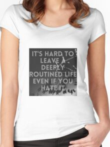 Summertime Grunge Quote  Women's Fitted Scoop T-Shirt