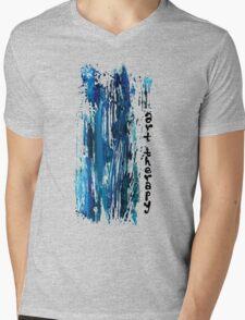 ART THERAPY Mens V-Neck T-Shirt