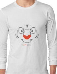 I Love Tigers Long Sleeve T-Shirt