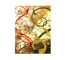 Abstract Colors Oil Painting #61 Art Print