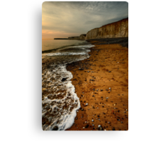 Birling Gap near Eastbourne Canvas Print