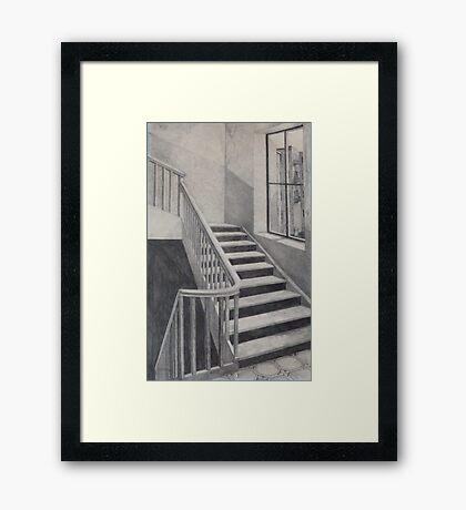 Empty Stairwell Framed Print