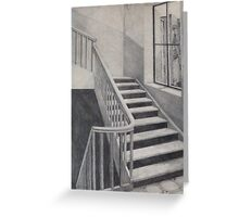 Empty Stairwell Greeting Card