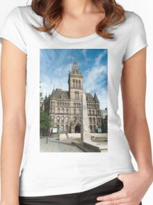 Manchester Town Hall East Facade  Women's Fitted Scoop T-Shirt