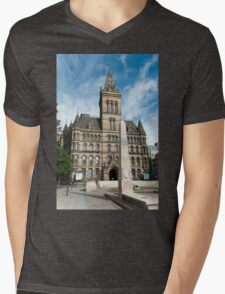 Manchester Town Hall East Facade  Mens V-Neck T-Shirt