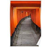 Red temple archways Poster