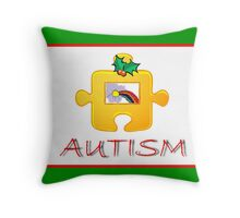 Autism Christmas Card Throw Pillow