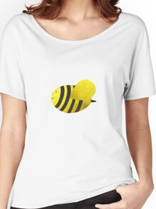 Cute Bumble Bee Fabric Collage Women's Relaxed Fit T-Shirt