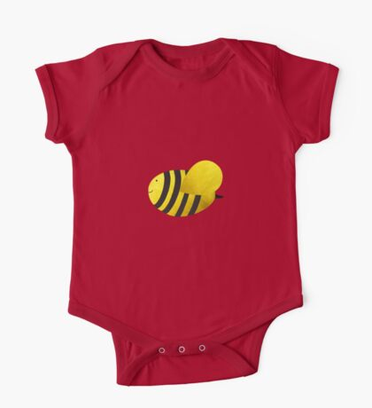 Cute Bumble Bee Fabric Collage One Piece - Short Sleeve