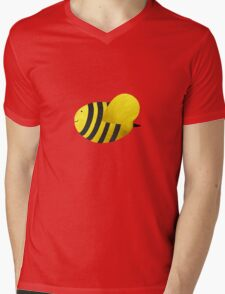 Cute Bumble Bee Fabric Collage Mens V-Neck T-Shirt