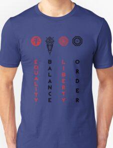 Korra's Antagonists - Legend of Korra (Red / Black Lettering) Unisex T-Shirt