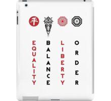 Korra's Antagonists - Legend of Korra (Red / Black Lettering) iPad Case/Skin