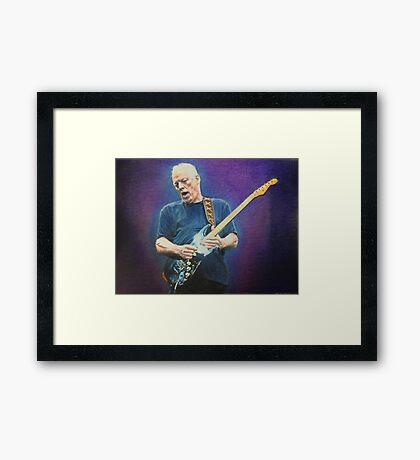David Gilmour fan art Framed Print