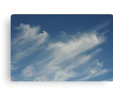 Moving cloud shapes Canvas Print
