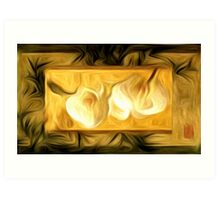 Chinese Orchids Abstract Oil Painting Art Print