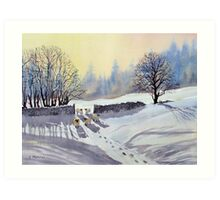 A Gap in the Winter Wall Art Print