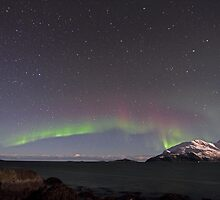 Aurora Borealis at the arctic coast by Frank Olsen