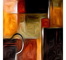 Abstract Squares Oil Painting #1 Photographic Print