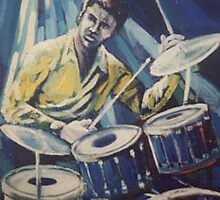 Jazz Drummer by Sally Sargent