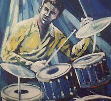 Jazz Drummer by Sally Sargent