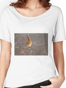 Female Northern Cardinal Women's Relaxed Fit T-Shirt