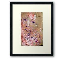 Mother and Child, Bernard Lacoque-1 Framed Print