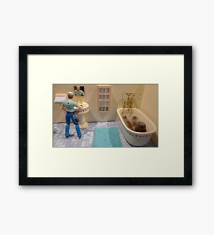 Crowded Morning Framed Print