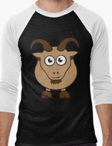 Grover The Goat in Brown Men's Baseball ¾ T-Shirt