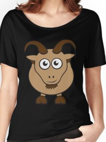 Grover The Goat in Brown Women's Relaxed Fit T-Shirt