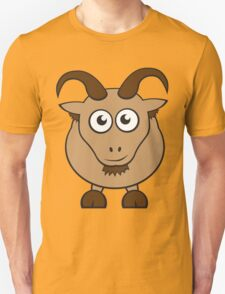 Grover The Goat in Brown Unisex T-Shirt
