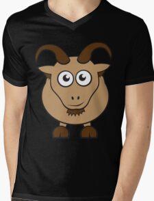 Grover The Goat in Brown Mens V-Neck T-Shirt