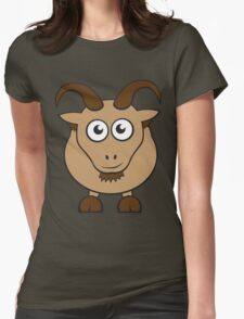 Grover The Goat in Brown Womens Fitted T-Shirt