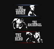 Shadowbroker, Archangel, the Hero femshep Womens Fitted T-Shirt