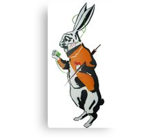 Wonderland Hare - Late for the tea party. Canvas Print