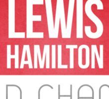 Lewis Hamilton Union Jack World Champion Sticker