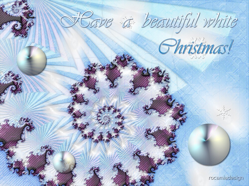 White Christmas Card by rocamiadesign