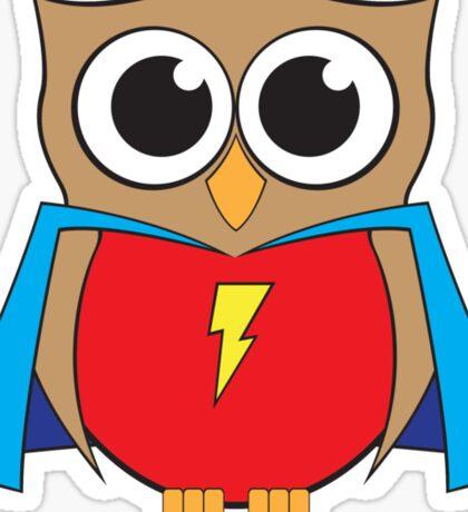 Shabby the Super Owl Sticker