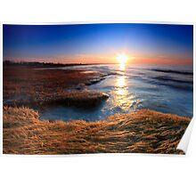 Rock Harbor - Cape Cod, Golden Sunset Poster