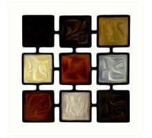 Abstract Squares Oil Painting #2 Art Print