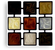Abstract Squares Oil Painting #2 Canvas Print