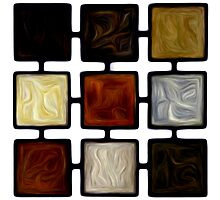 Abstract Squares Oil Painting #2 Photographic Print