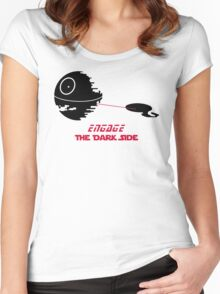 Engage The Dark Side Women's Fitted Scoop T-Shirt