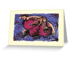 Mujer Onirica Señalando Greeting Card
