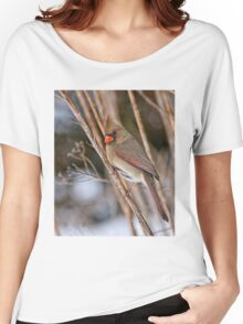 Female Northern Cardinal - Ottawa Ontario Women's Relaxed Fit T-Shirt