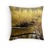 Golden Creek Throw Pillow