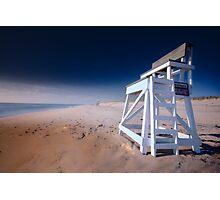 Nauset Beach, Cape Cod - Lifeguard Chair Photographic Print