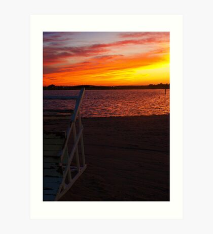 Ortley Sunset Art Print